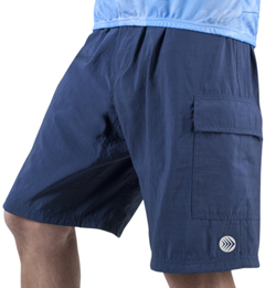 navy blue cargo bike short