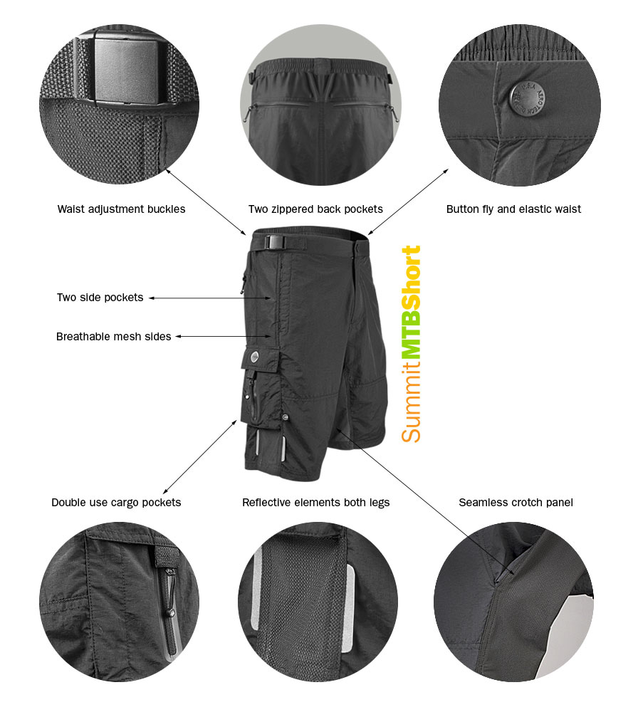 Summit MTB Shorts from Aero Tech Designs Cyling Apparel
