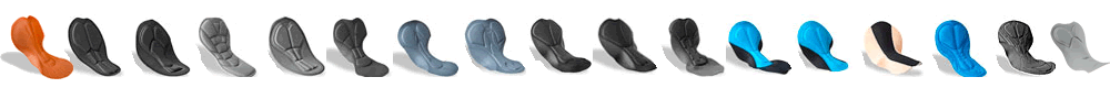 chamois pad choices for cycling apparel