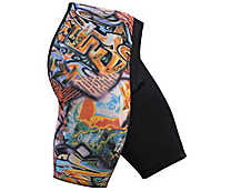 men's wild print spandex shorts
