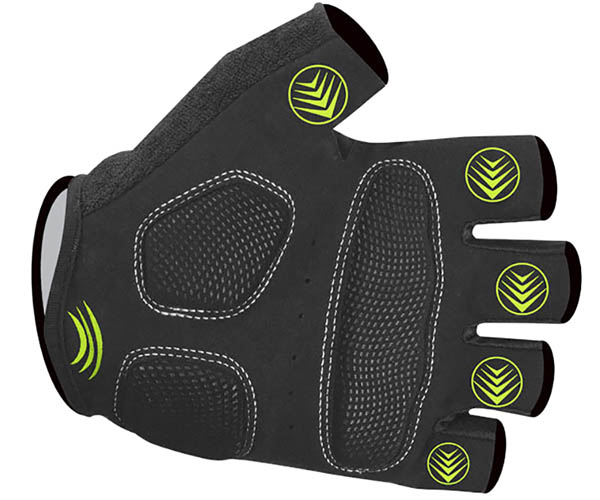 aero tech designs tempo cycling gloves fingerless with gel palm view yellow