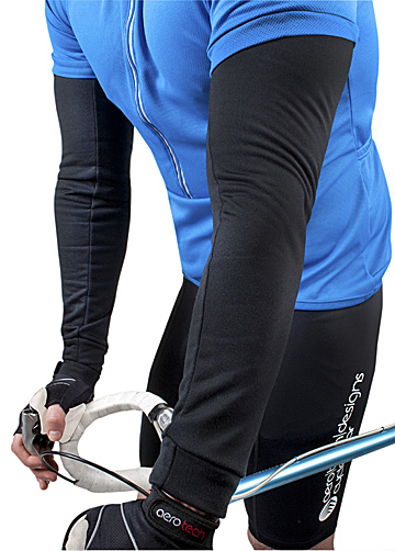 arm warmers with stretch fleece