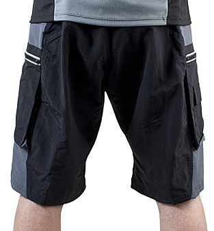 back view of mountain bike shorts