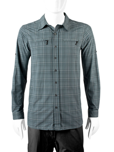Extra long  in gray commuter shirt