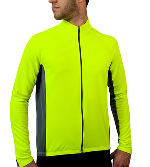 safety yellow fleece jersey