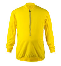 big man's yellow long sleeve bike jersey