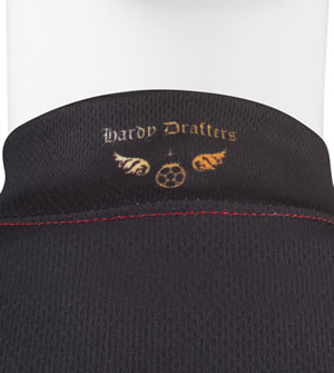 Hardy Drafters back of collar