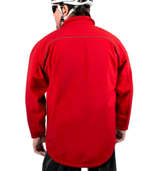 big man's raincoat in red