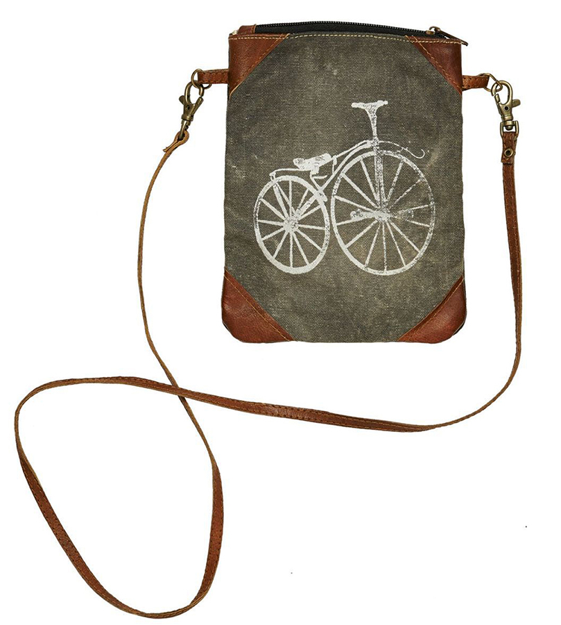 bike bag cross body recycled materials