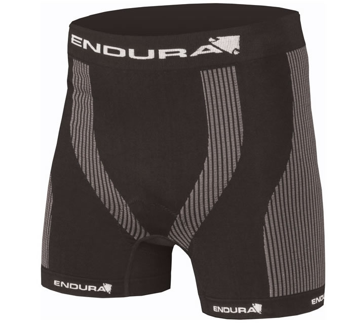 endura knit wicking soft under short padded boxer for bike riding with thin pad great for commuters