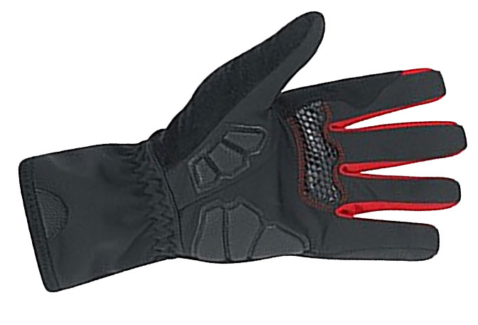 palm view of awesome gripper of the gore power windstopper full finger bicycling bike gloves palm view
