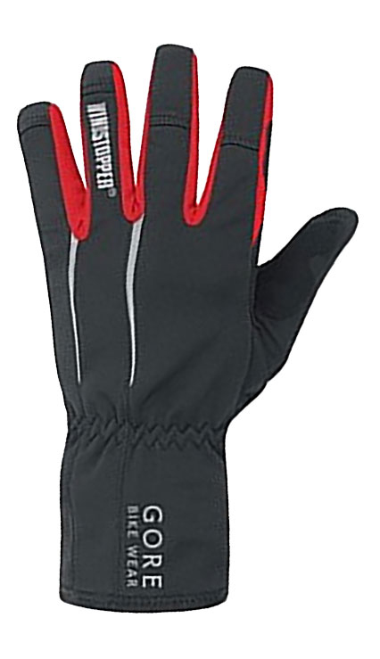 top view of the gore power windstopper cycling glove for men and women