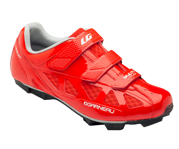 louis garneau biking shoes for men multi air flex bright red