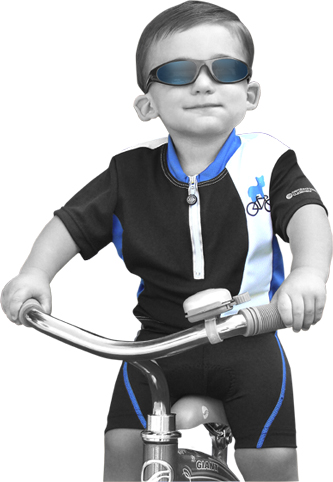 child bike shorts in blue