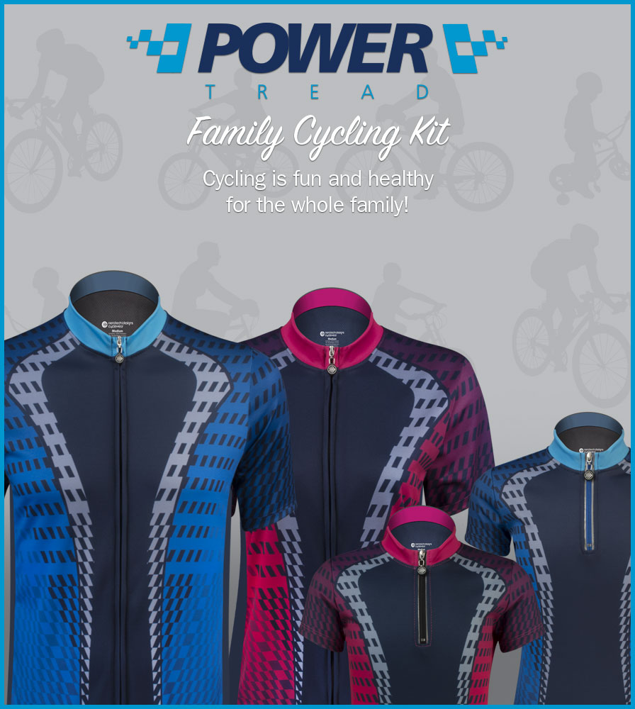 Have the whole family match with Power Tread Jerseys
