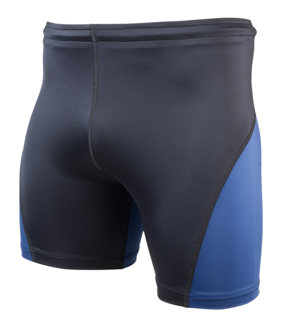 Black and Navy Men's Compression Shorts