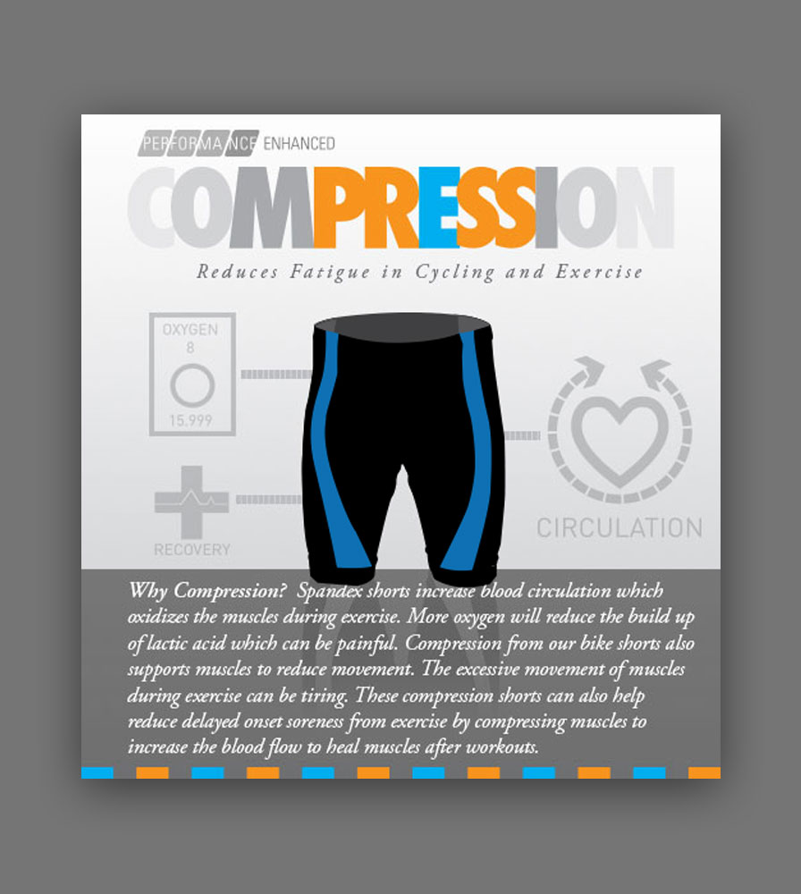 aero tech compression exercise shorts