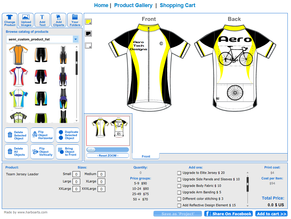 Quality semi custom cycling clothing kits made in the usa for Custom cycling jersey template