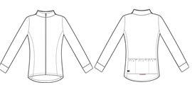 Woman's long sleeve fleece Peloton Cycling Jersey
