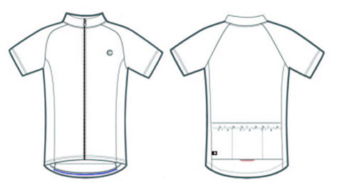 Solid Raglan bike jersey