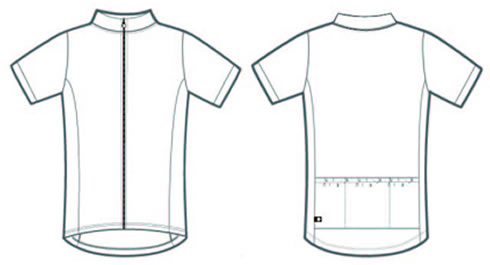 Areo tech designs custom product templates for Custom cycling jersey template