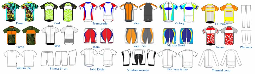 custom cycling jersey templates