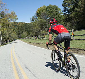 Bib shorts offer a smooth transition while cycling