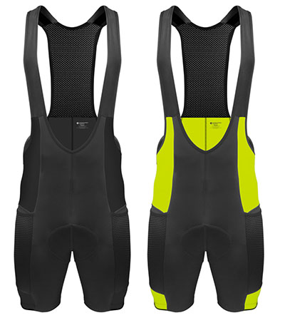 Two colorways for the Gel Touring Bib Shorts