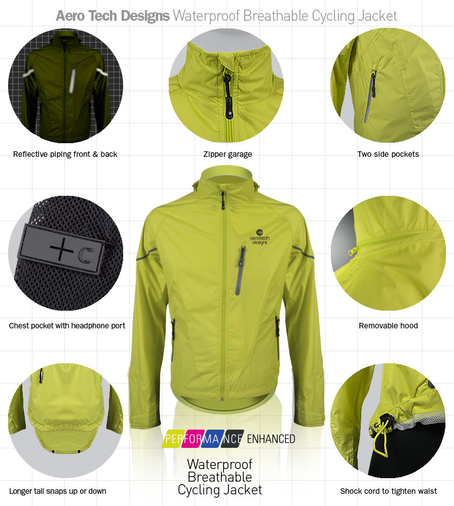 Tall waterproof breathable jacket