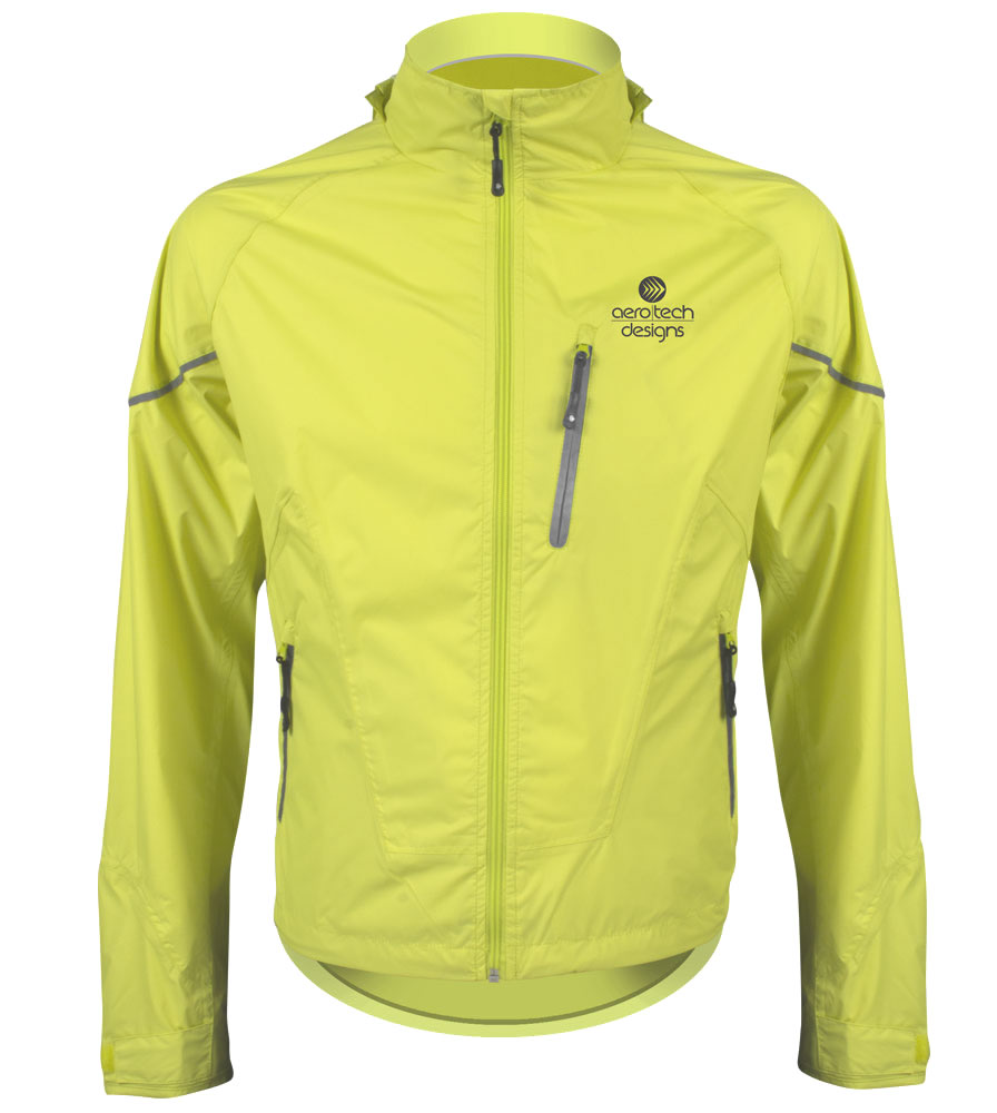 Men's Rain Jacket - Front with Reflective zippers