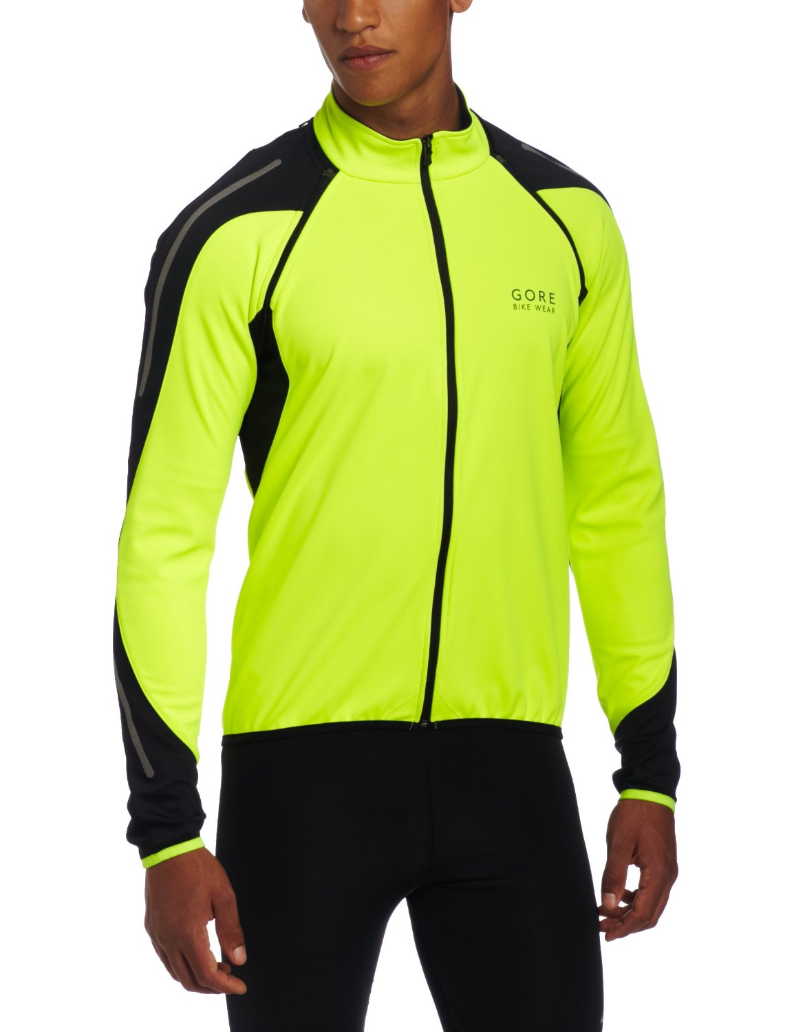 Gore Tex Phantom Cycling Jacket Front high visibility Yellow