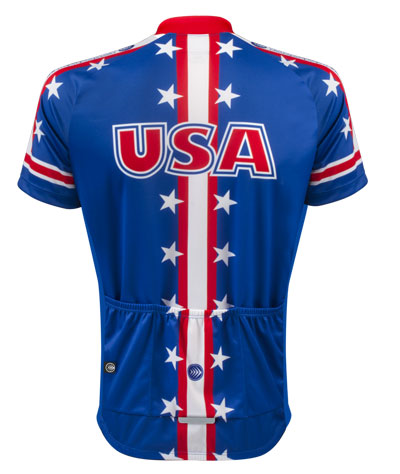 USA Themed Cycling Jersey - Back