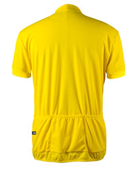 back view of yellow jersey