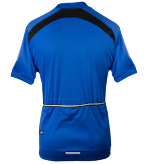 back view of blue jersey