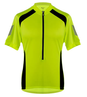 safety yellow cycling jersey