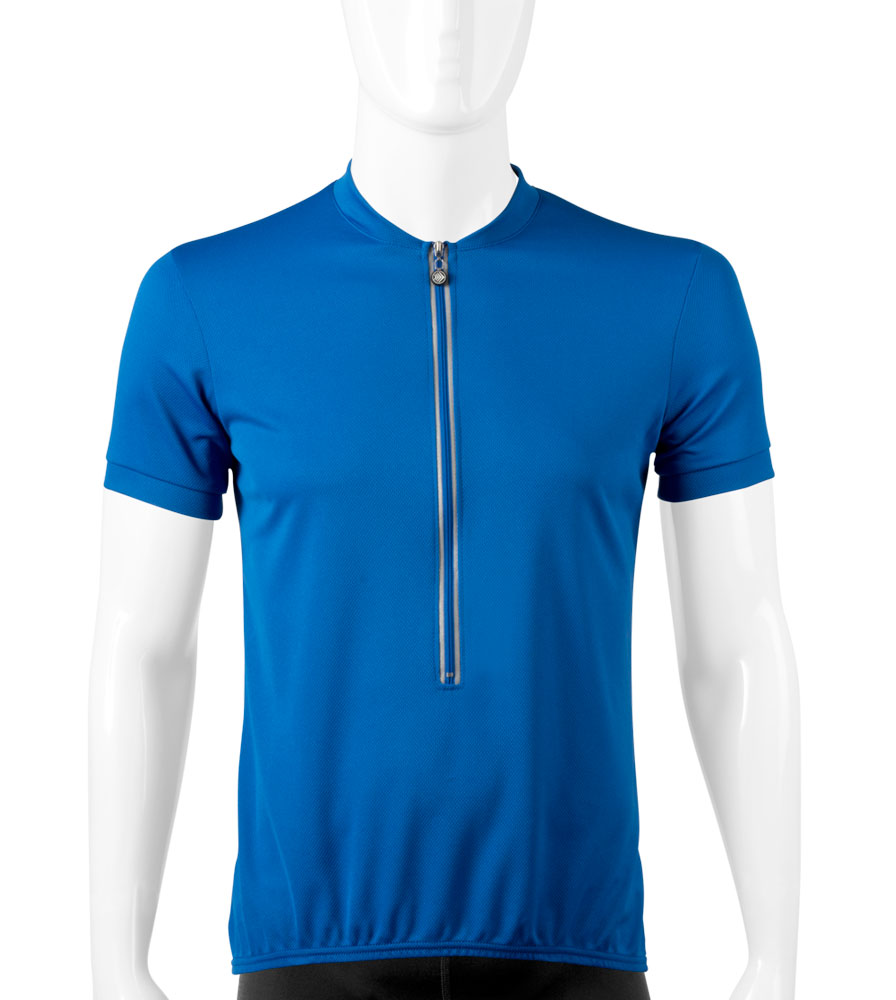 aero tech blue cycling jersey
