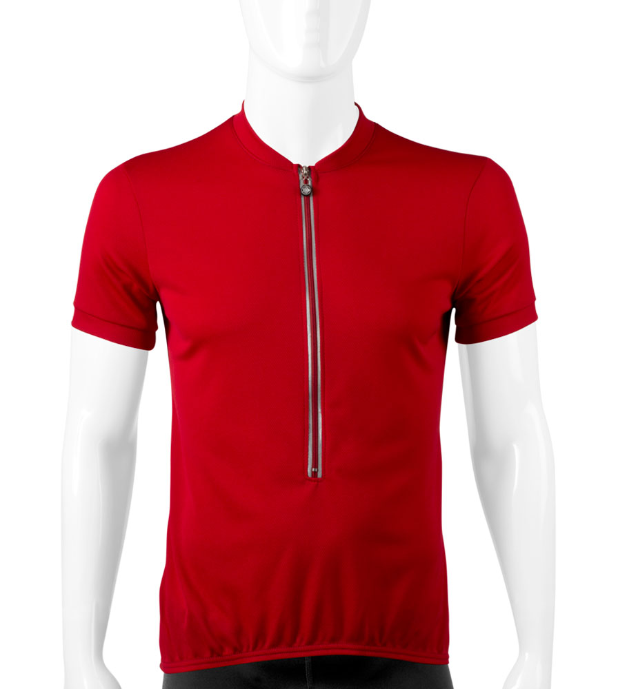 aero tech red cycling jersey