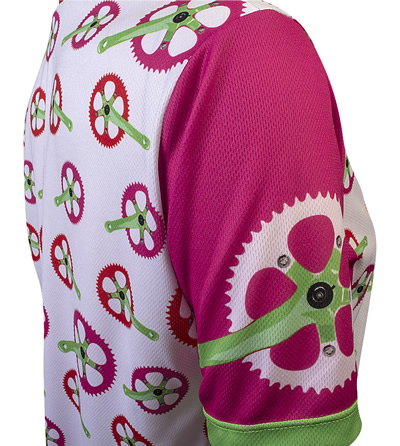 pink bicycle crank