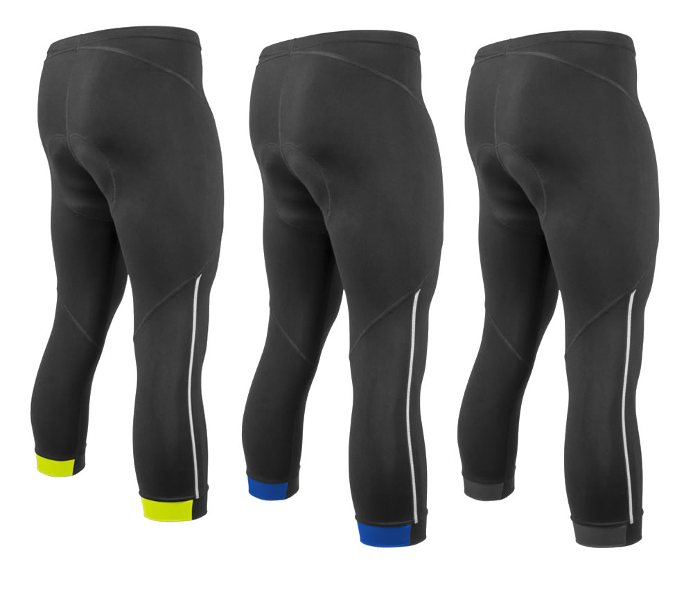 mens padded cycling knickers with reflective trim