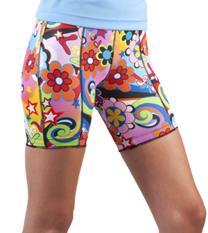womens wild print bike shorts