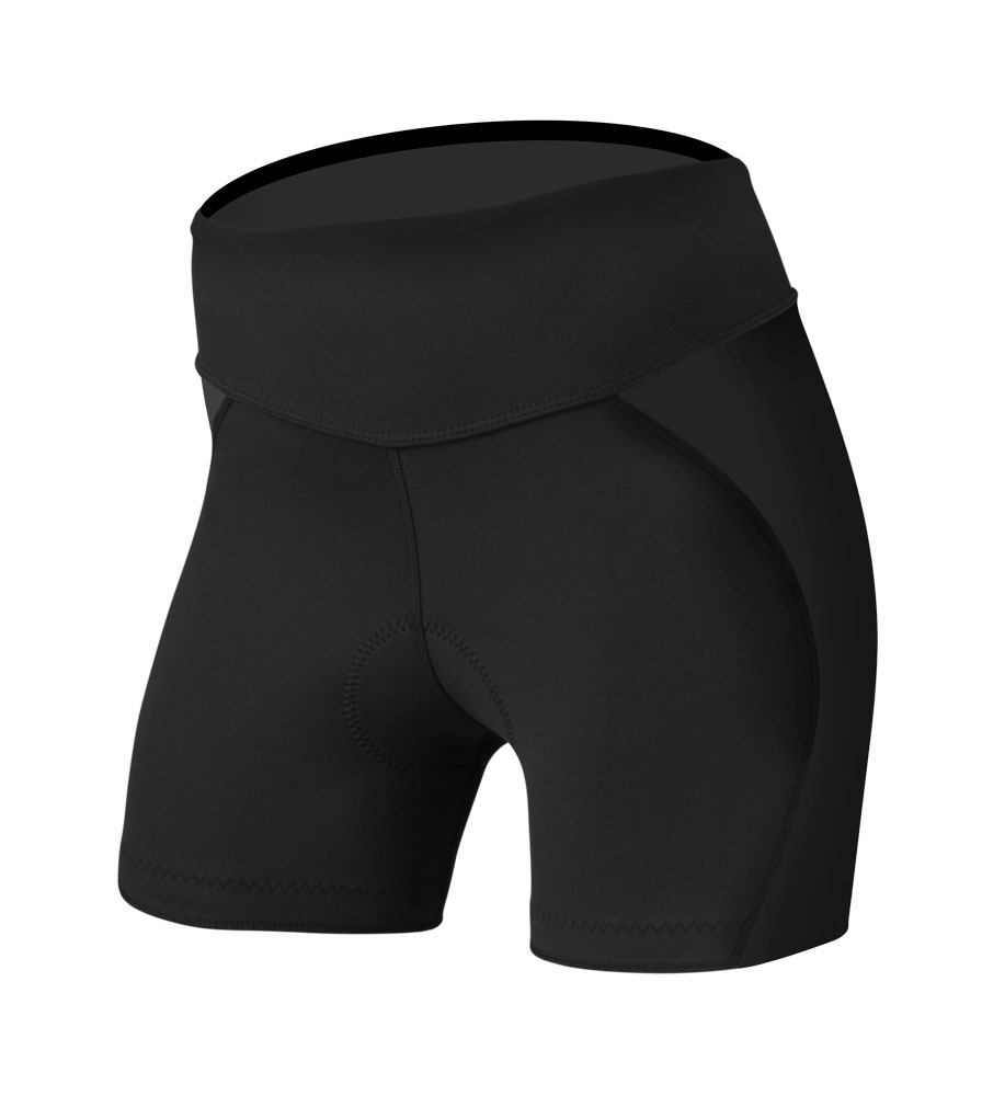 black mini bike shorts