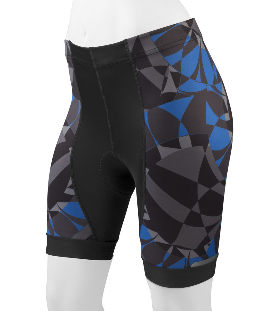 Blue Mosaic designer cycling shorts