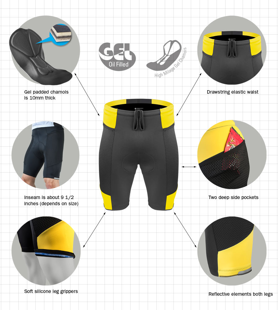bicycle touring shorts pictogram