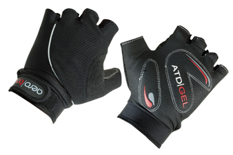 black gel gloves