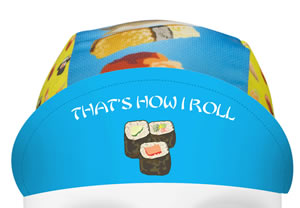 sushi cycling hat