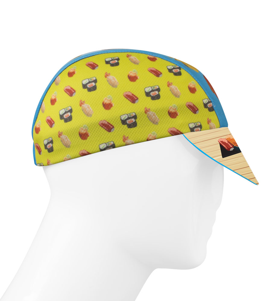 fish sushi cycling hat