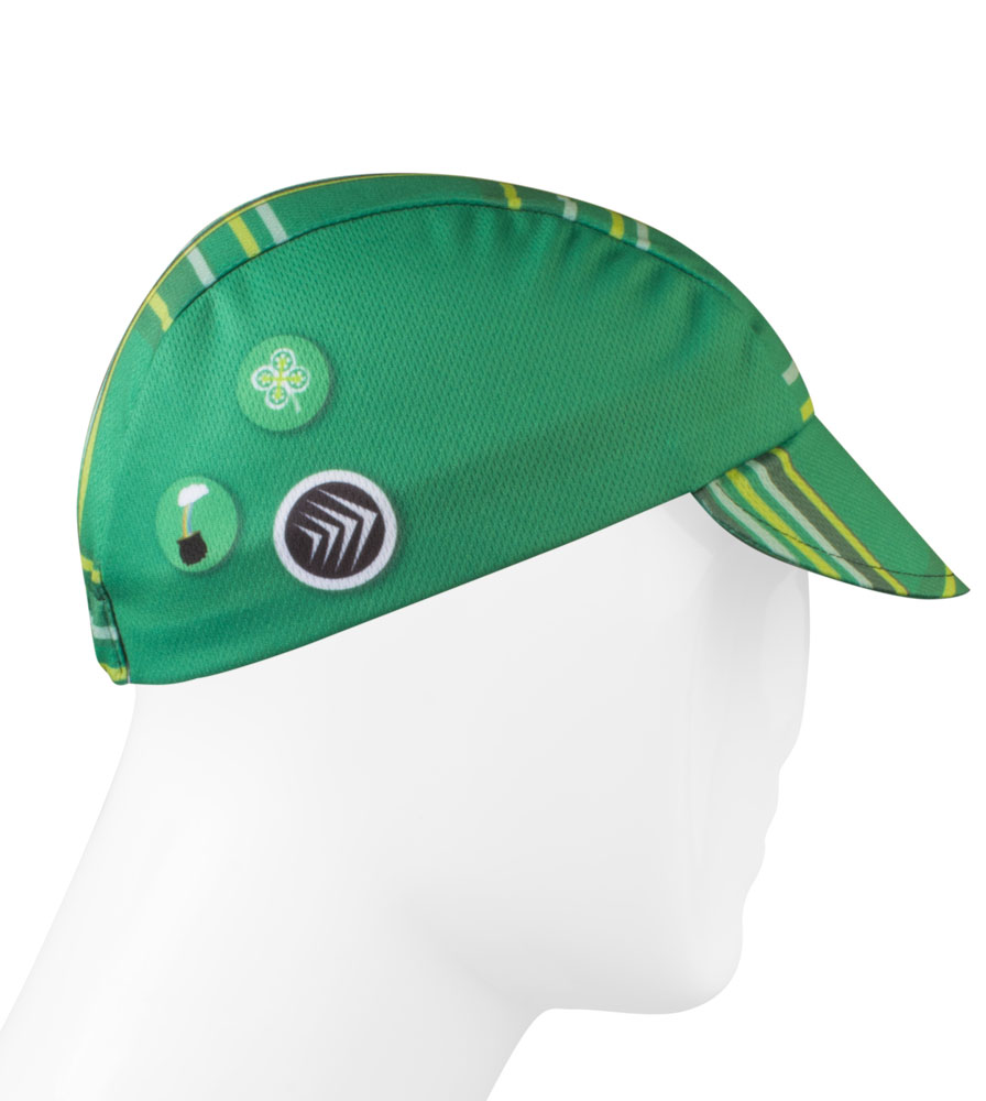 green cycling hat