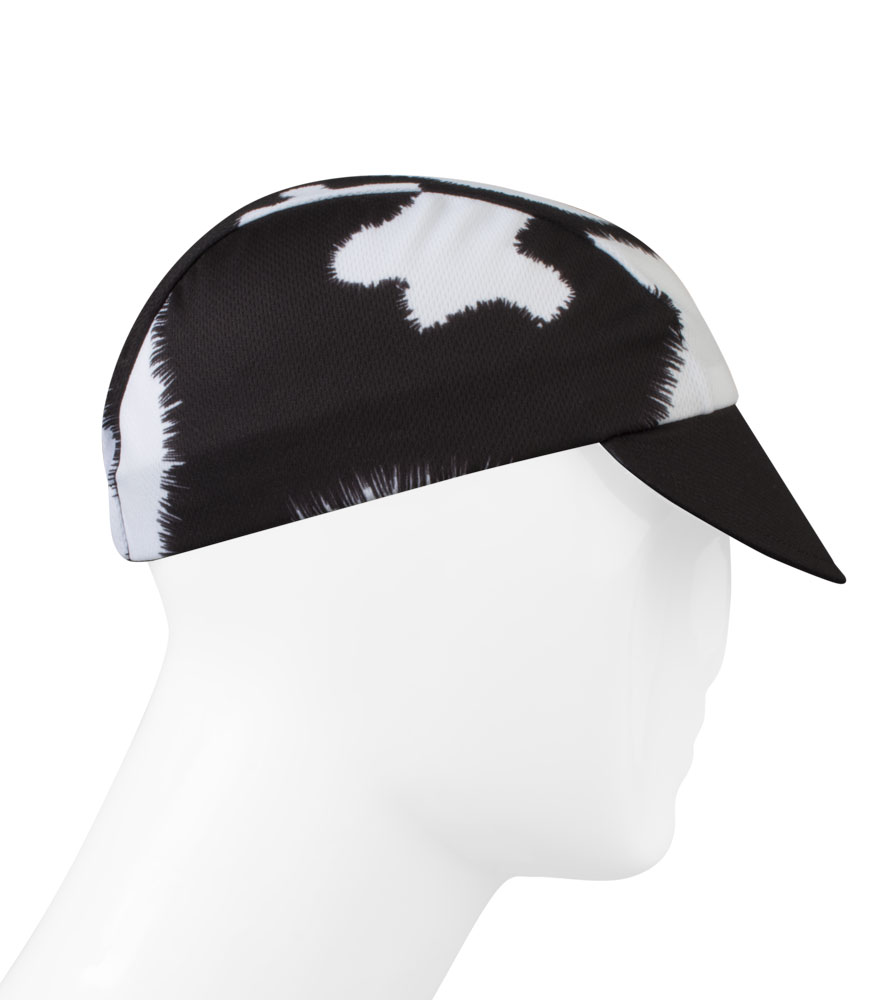Aero Tech cycling cap - black and white cow print