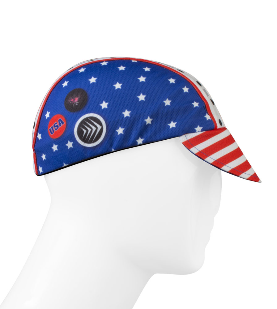patriotic cycling hat