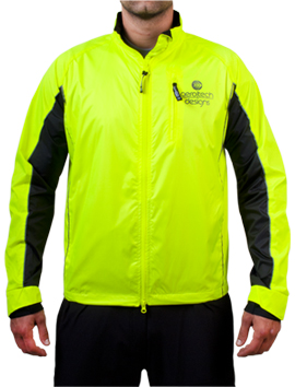 highly visible cycle and running jacket